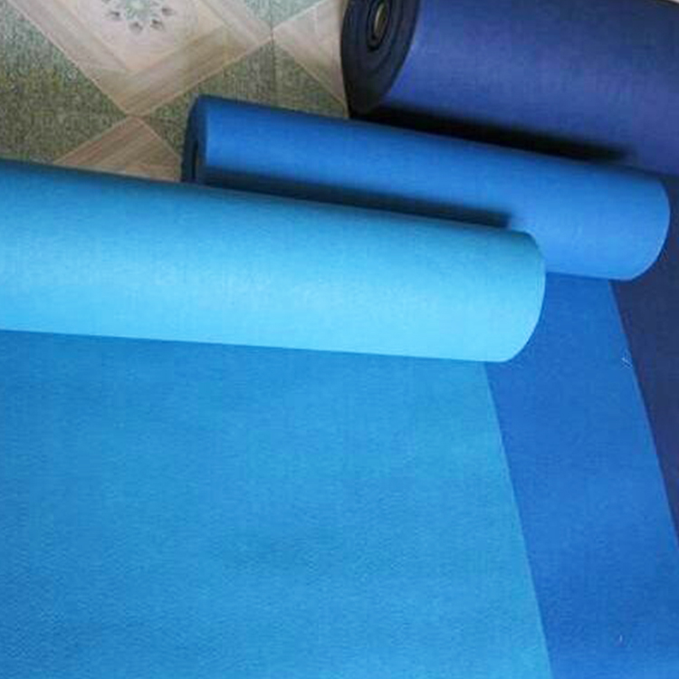 High quality nonwoven needle punched hotel exhibition carpet runner