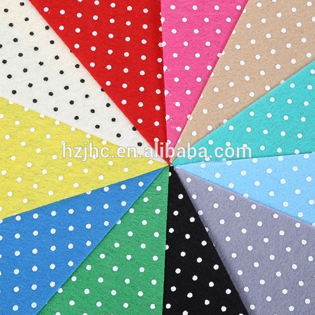 Custom Colour Printed Felt Nonwoven Fabric Needle Punched Fabric