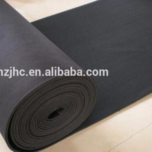 Needle punched nonwoven protection printed felt mat