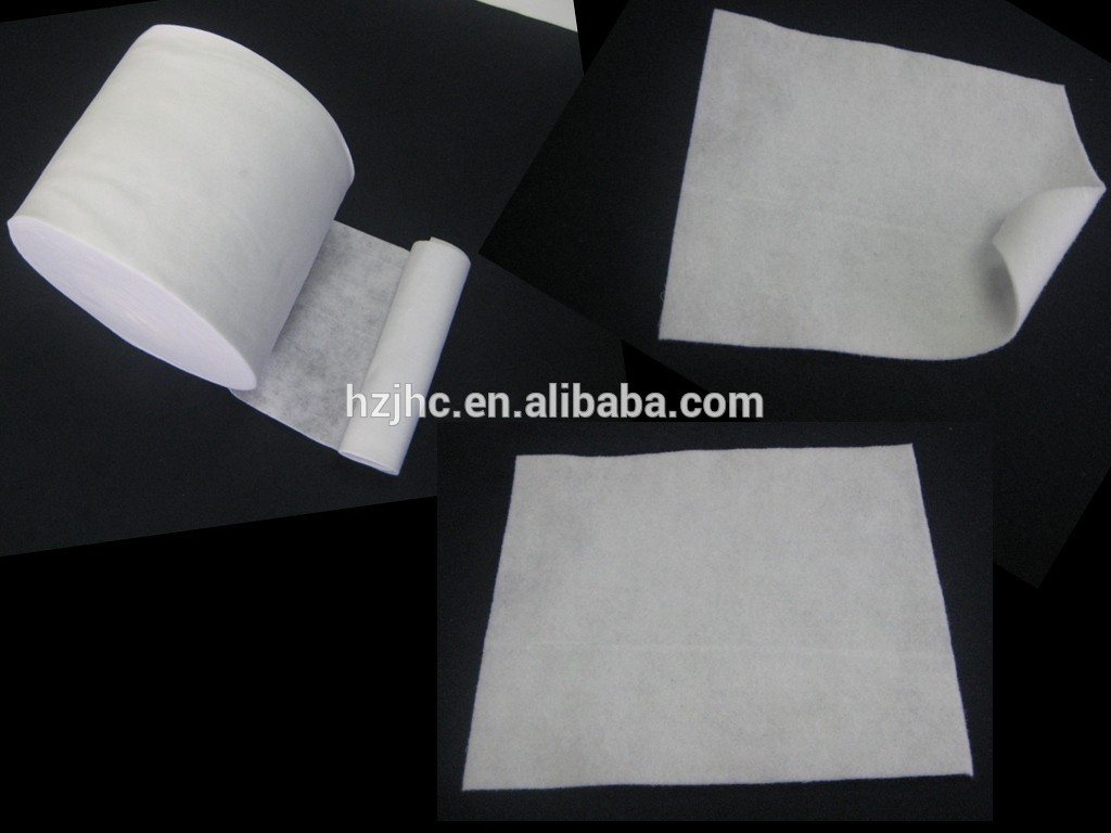 Wholesale cheap recycled polyester needle punched non-woven fabric rolls