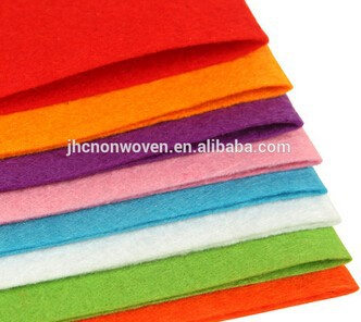 Custom colored polyester nonwoven needle felt fabric for embroidery