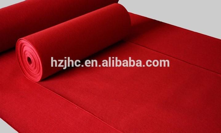Perforado agulla alfombra liso sentiu alfombra antideslizante rolo mat