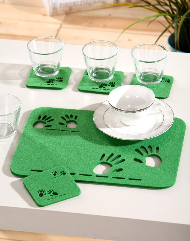 nonwoven polyester felt for felt coaster mat for cup Featured Image