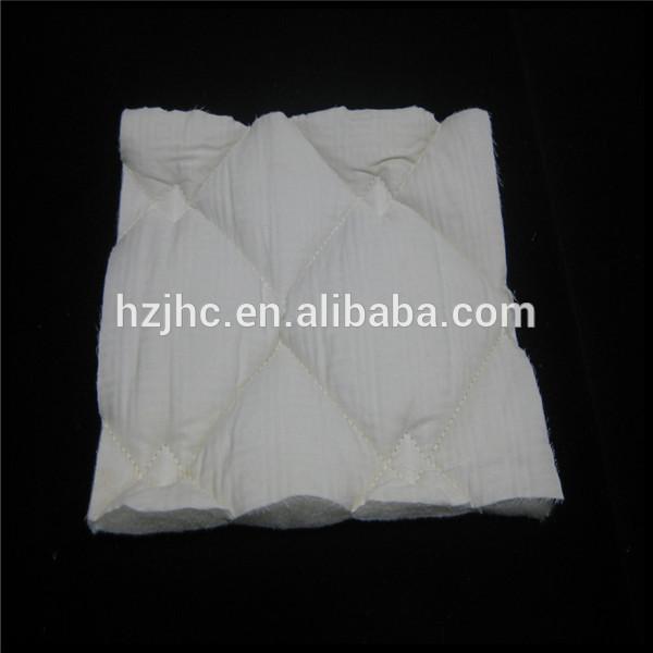Oeke-tex standard 100 hollow virgin polyester fiber padding quilting fabric