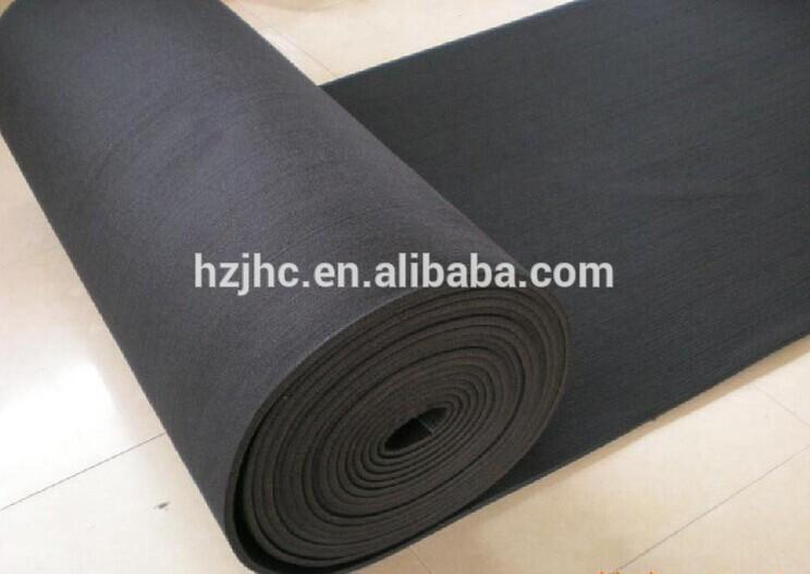 Nålestukket almindeligt tæppe følte tæppe anti slip mat roll