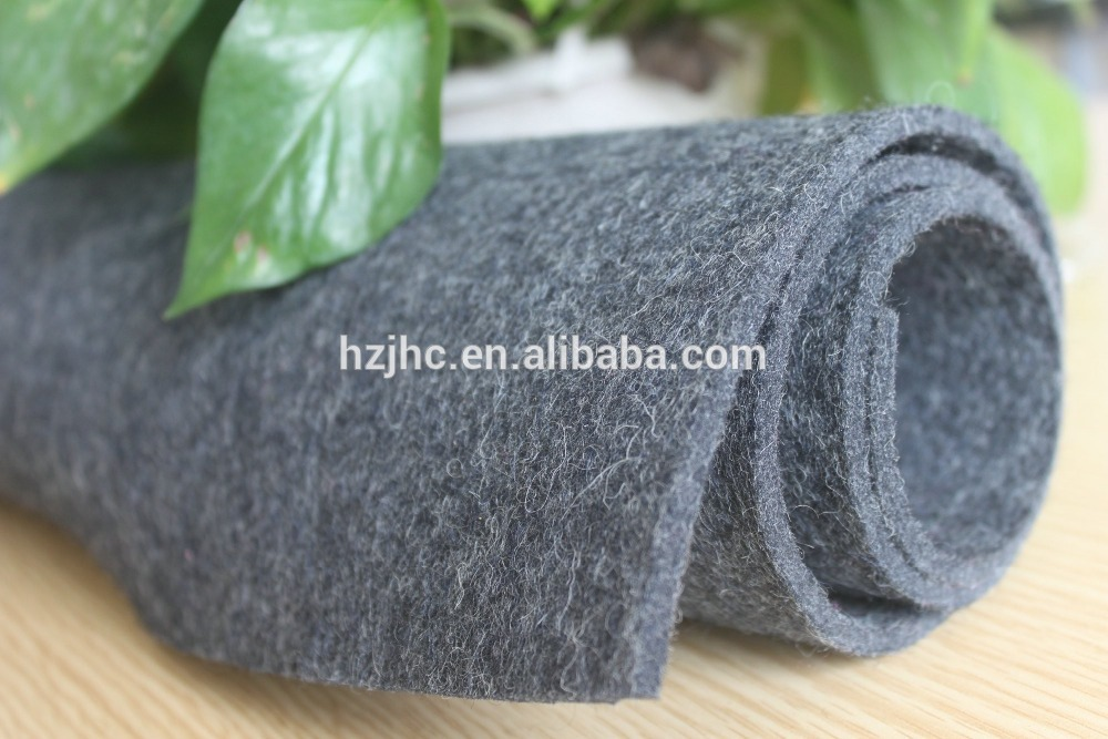 Needle punched polyester plain fireproof carpet