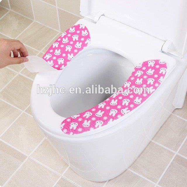 OEM Sticky Portable Felt Fabric Toilet Seat Cover Pads