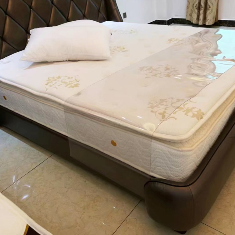 Customized White quilted bed mattress topper mattress protector