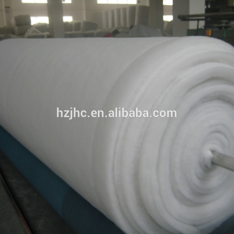 Thermal bonded silk wool polyester wadding for quilt jacket