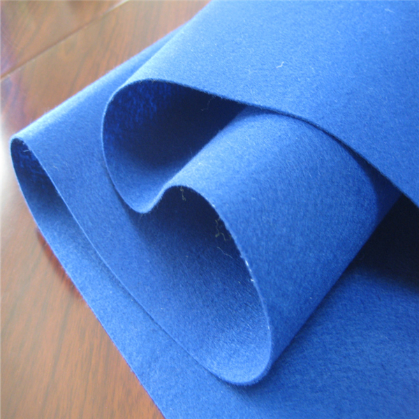 High quality colored needle punched nonwoven soft felt fabric