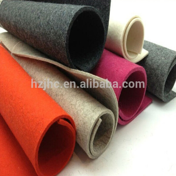 Needle punched 100% polyester plain non-woven auto car upholstery felt fabric
