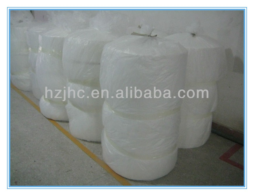 hot air through Wholesale Polyester Needle Punched Nonwoven Fusing Interlining Fabric
