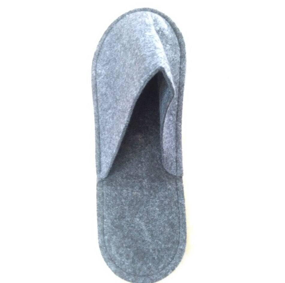 Anti slip colored needle punched felt fabric for indoor slipper set