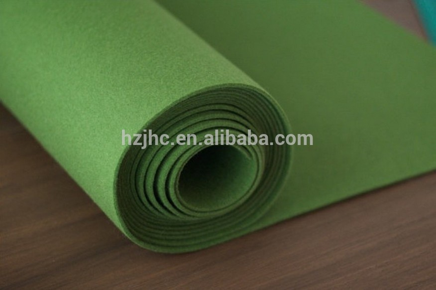 pianura all'ingrosso leggero verde feltro di poliestere tessuto bombetta
