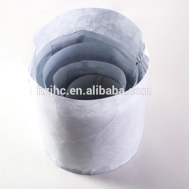 Dark Grey Needle Punched Non Woven Fabric Tanaman Tumbuh Bag