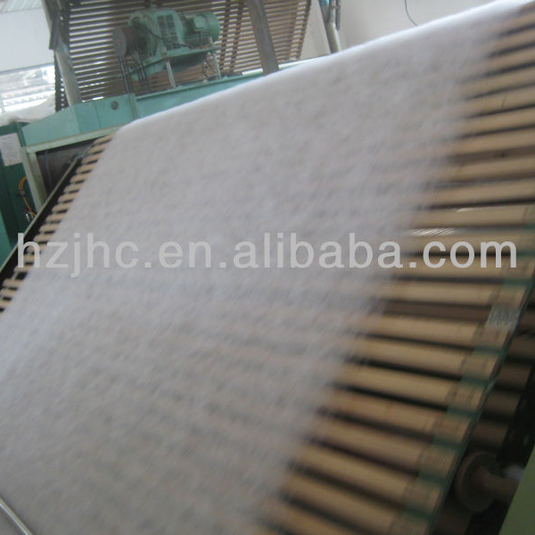 PLA bicomponent thermal bonded nonwoven for sanitary napkin and diaper