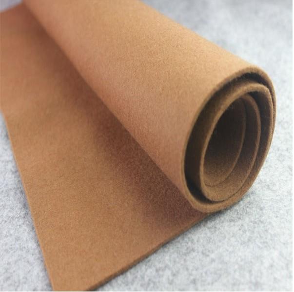 Effekt ausgepöppelt Polyester Non-Ënner Teppech Base Stoff Felt Stoffer