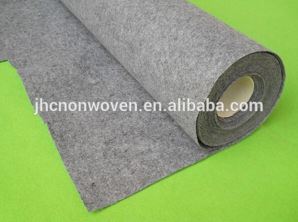 China nonwoven thick grey needle punch polyester wool felt fabric