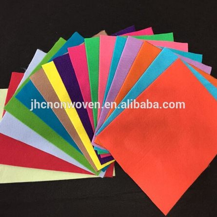 Self adhesive hard polyester colorfull nonwoven needle punched DIY color felt craft sheet