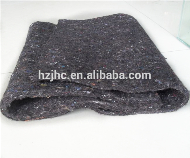 Customized waste recycling nonwoven carpet padding fabric
