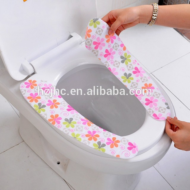 Creative Sticky Portable Printed Felt Toilet Mat Set