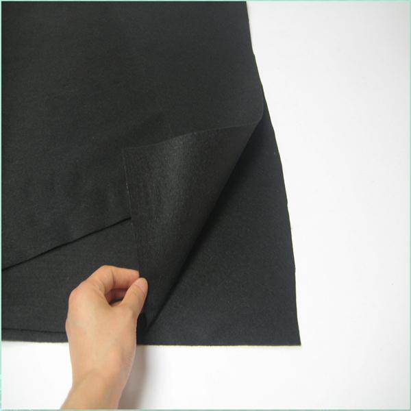 Hot sale nonwoven thick black felt material