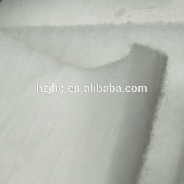Wholesale Non-woven Fireproof Fabric Fireproof Non-glue Cotton Batting With Thermal Bonding