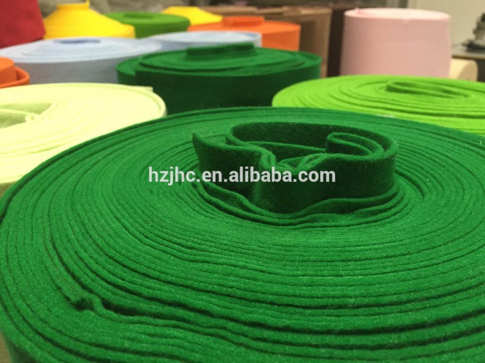Nonwoven wool hand made needle felt fabric for craft flowers