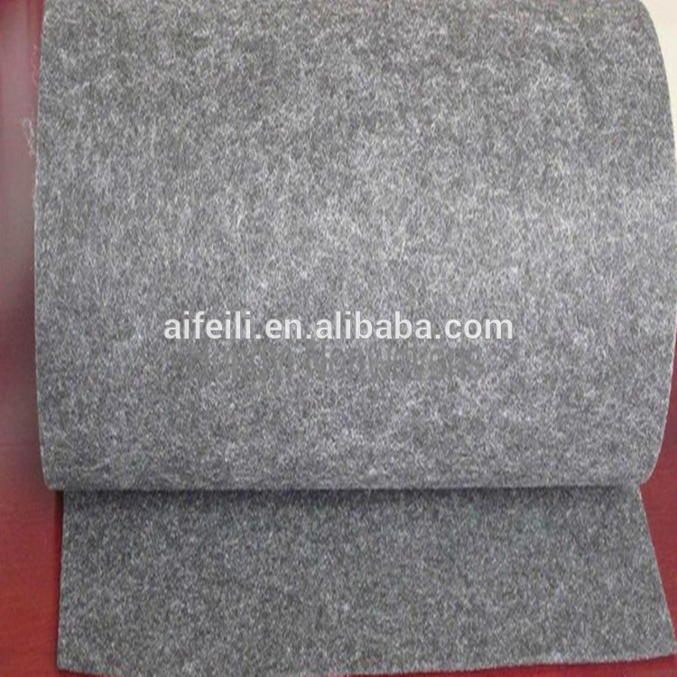 Black grey polyester/acrylic/wool thick color felt fabric