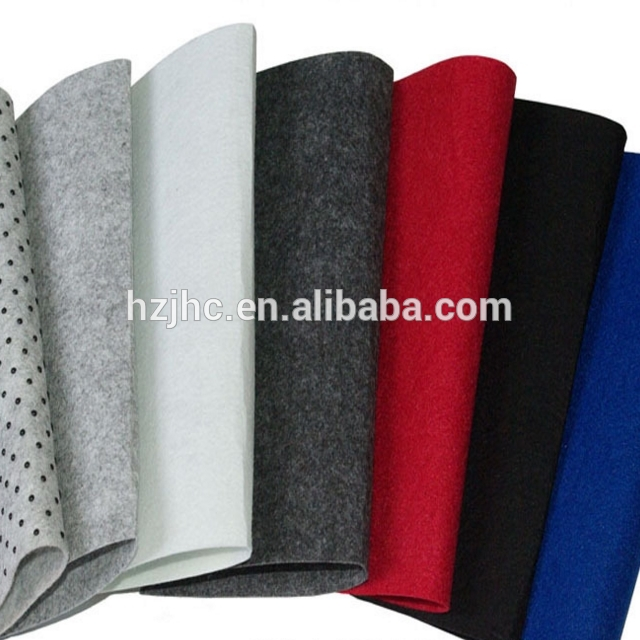 High quality needle punched polyester anti-slip non woven carpet fabric
