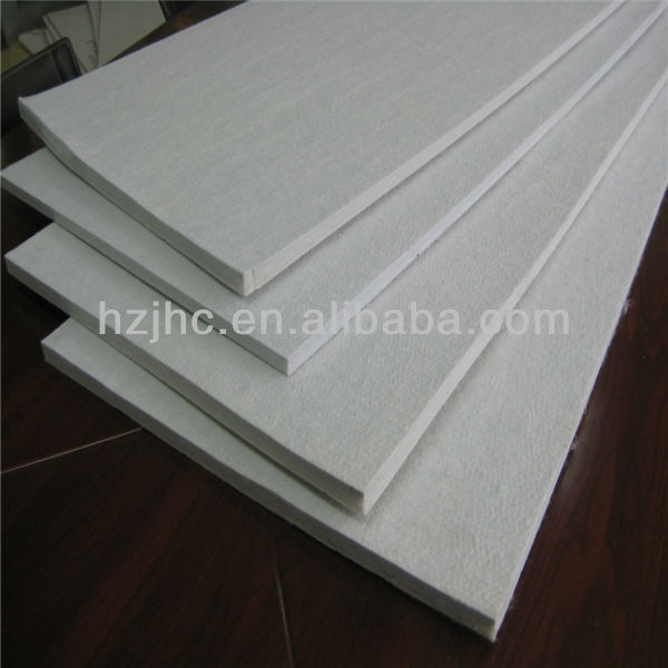 Hard nonwoven needle punched polyester felt pad fabric sheet