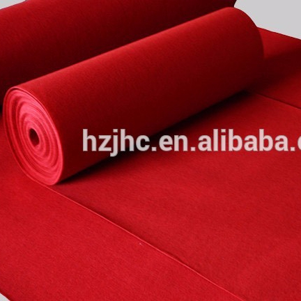 Needle punched plain nonwoven polyester carpet mat for protection