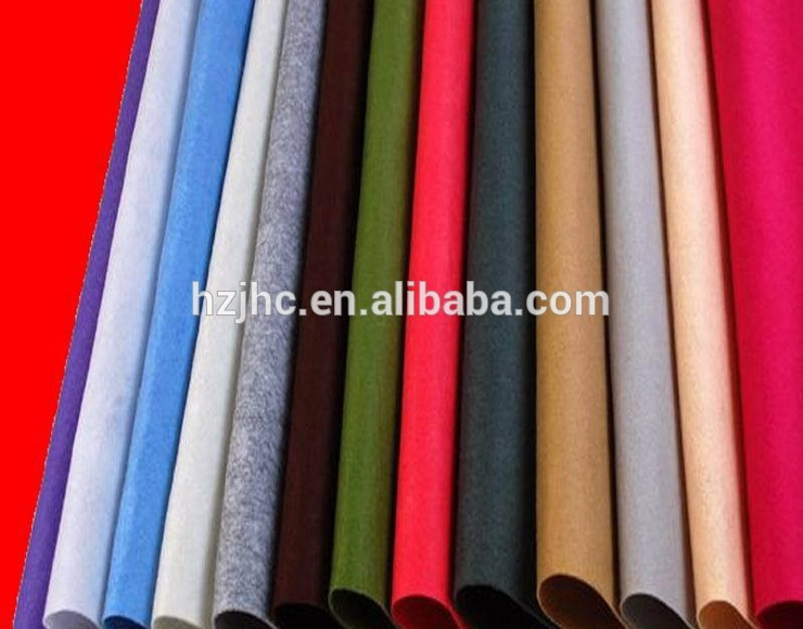 Polyester printed needle punched soft DIY craft non-woven felt fabric sheets/rolls