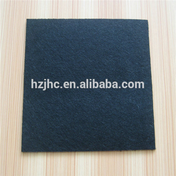 Polyester Nonwoven Punched Black Needle Placemats materialları Keçe