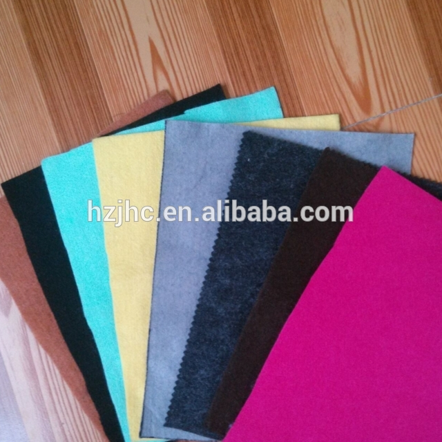 Colorful wool polyester nonwoven wallet felt fabric