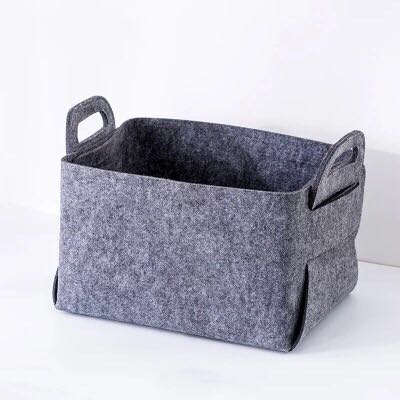 Foldable Kain Non Woven Storage Box kanggo Clothing