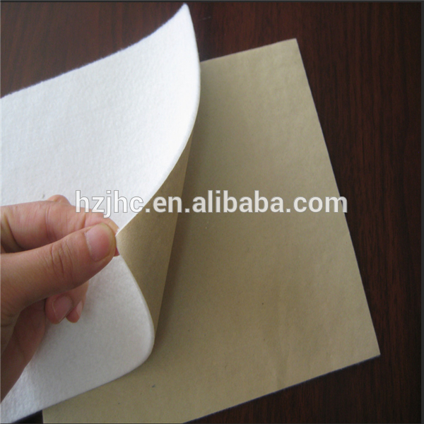Bulk self adhesive backed polyester nonwoven heating felt pads
