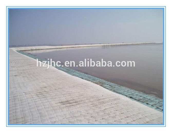 Non woven geotextile type geo bag used for reservoir lake dam