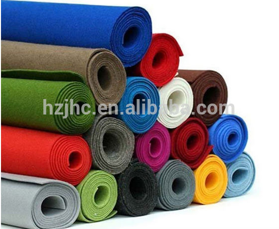 Hotel style carpet custom makke plain nonwoven polyester carpet