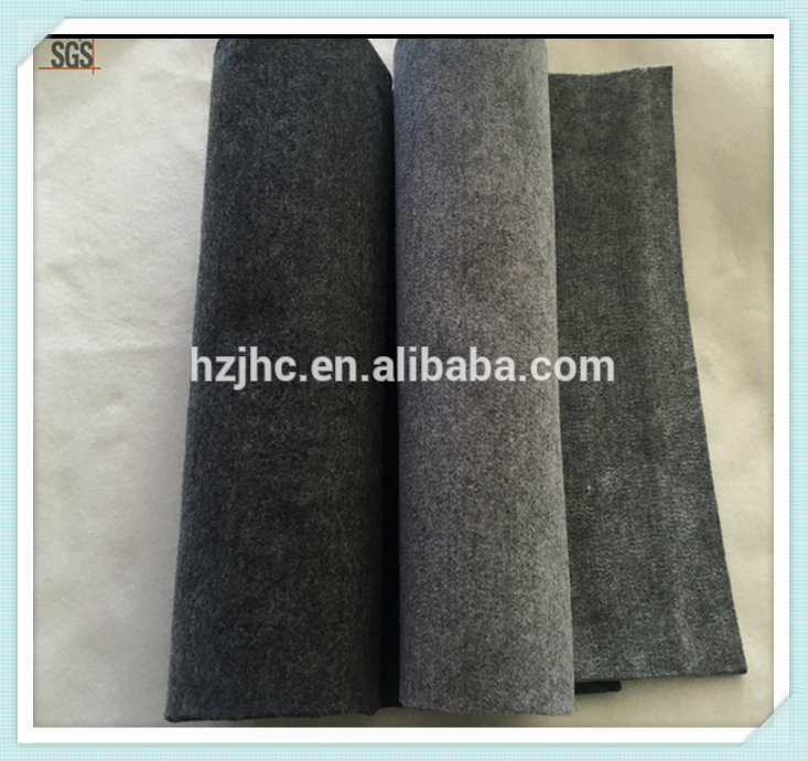 Indoor or outdoor carpet plain nonwoven polyester carpet