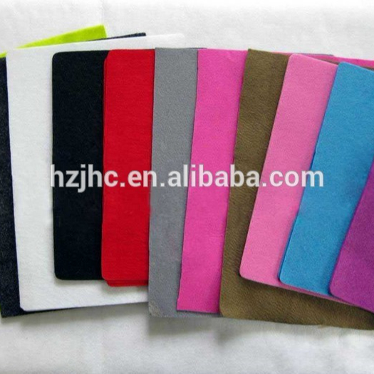 Colorful needle punched nonwoven felt for handmade felt purse
