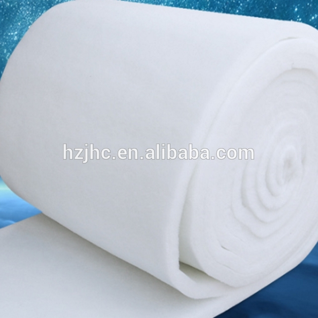 Fluffy nonwoven polyester wadding kemul sheet nggulung