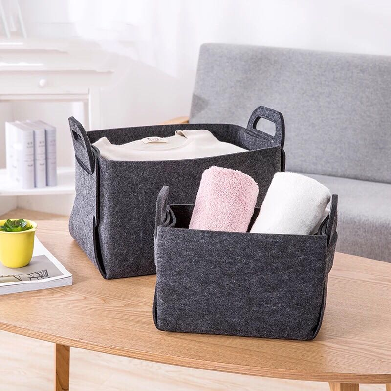 Small Felt Foldable Storage Box for Household Using