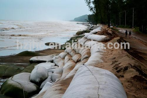 Anti-uv needle punched non woven river bank used pp geotextile sand bag for flood control