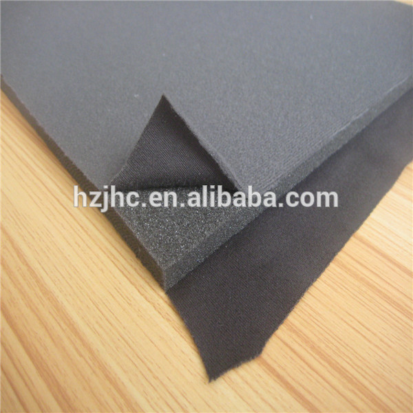 China foam laminate polyester non-woven fabric for padding covering supplier