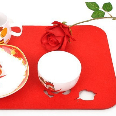 Popular non-woven technics bright color felt placemat