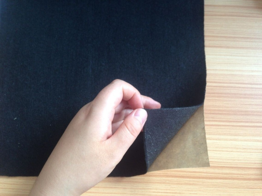Self adhesive backed nonwoven felt fabric