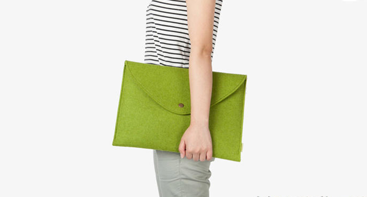 Fashional Customized sizes notebook bag felt laptop sleeve case for Tablet