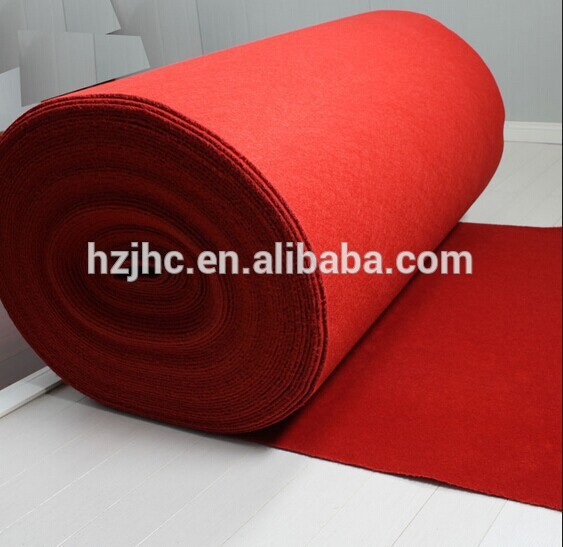 Plain nonwoven polyester used hotel style carpet